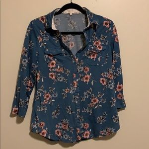 Button down floral shirt